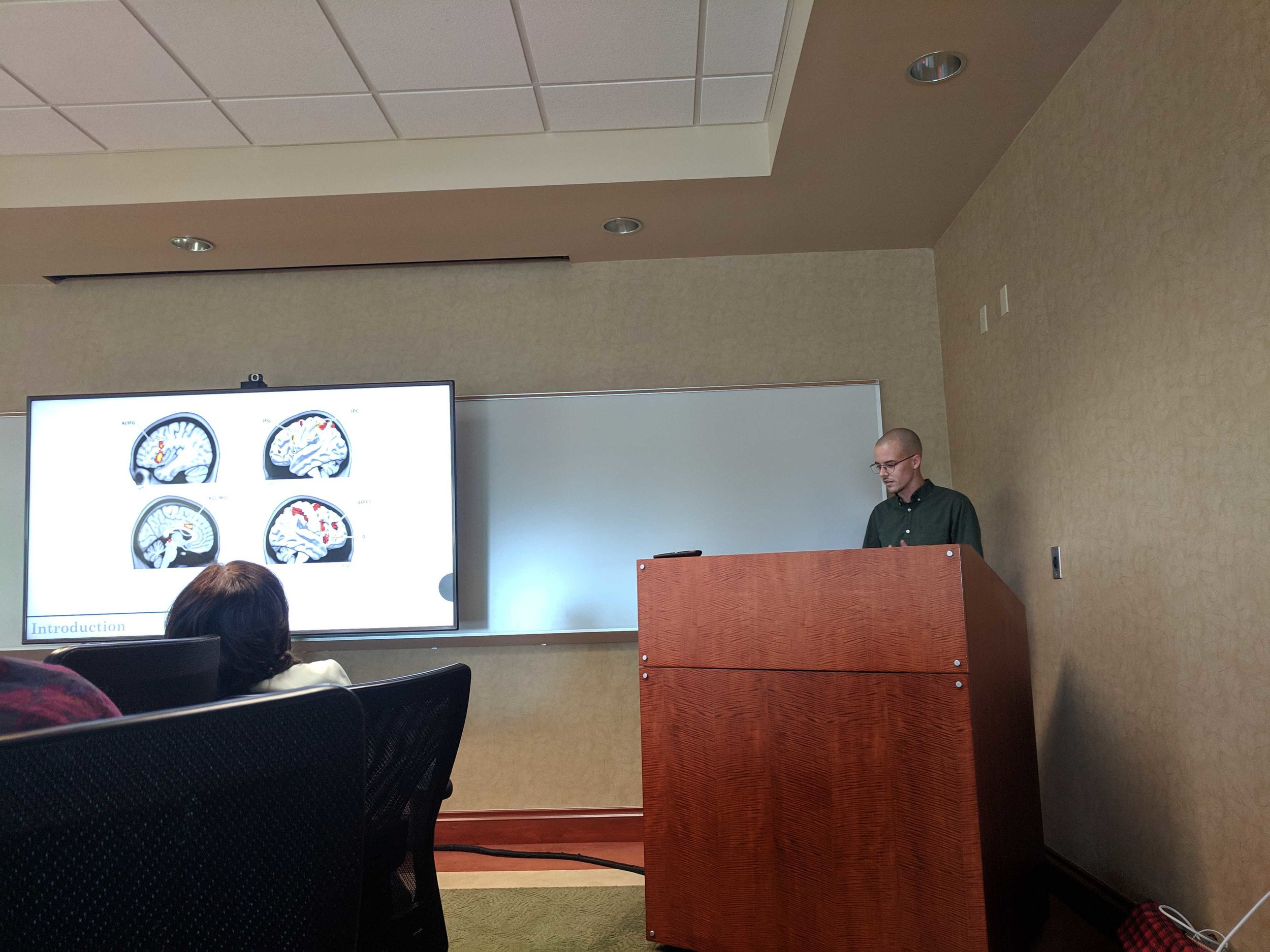 Steven Anderson  discusses brain areas associated with neural empathy and expressive suppression.