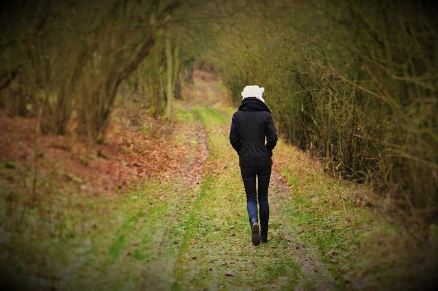 light exercise nature walk mindfulness