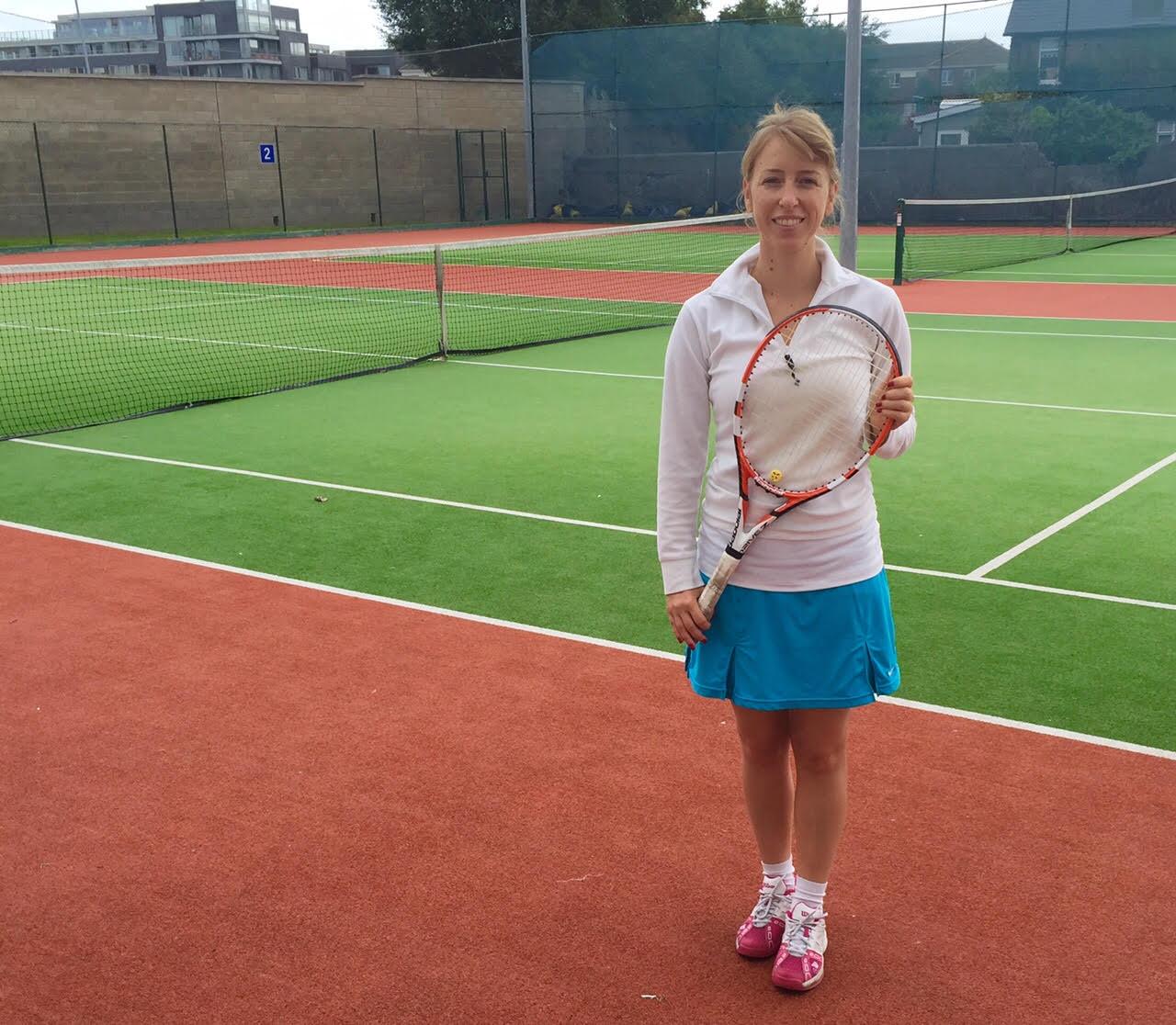 Vanessa Boschetti playing tennis Dublin