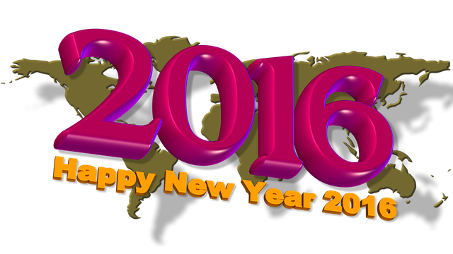 happy new year 2015 in to 2016