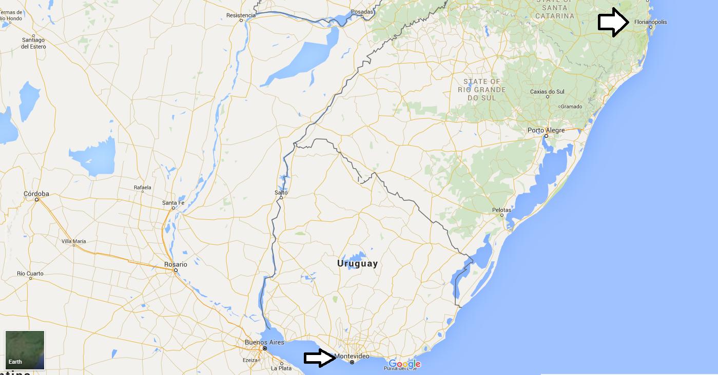 Florianopolis to Montevideo bus journey