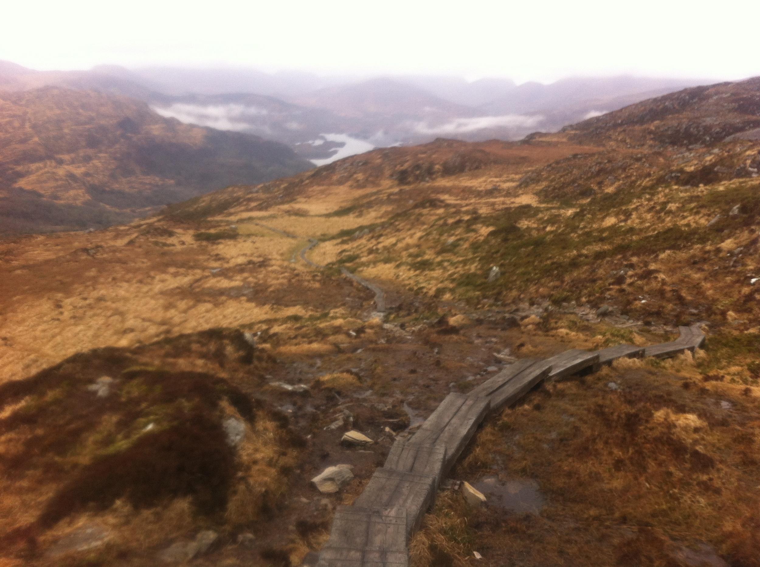 Torc Mountain path