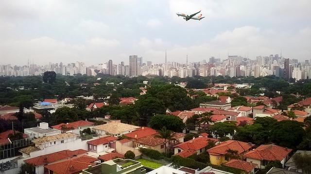 Sao Paulo city aeroplane
