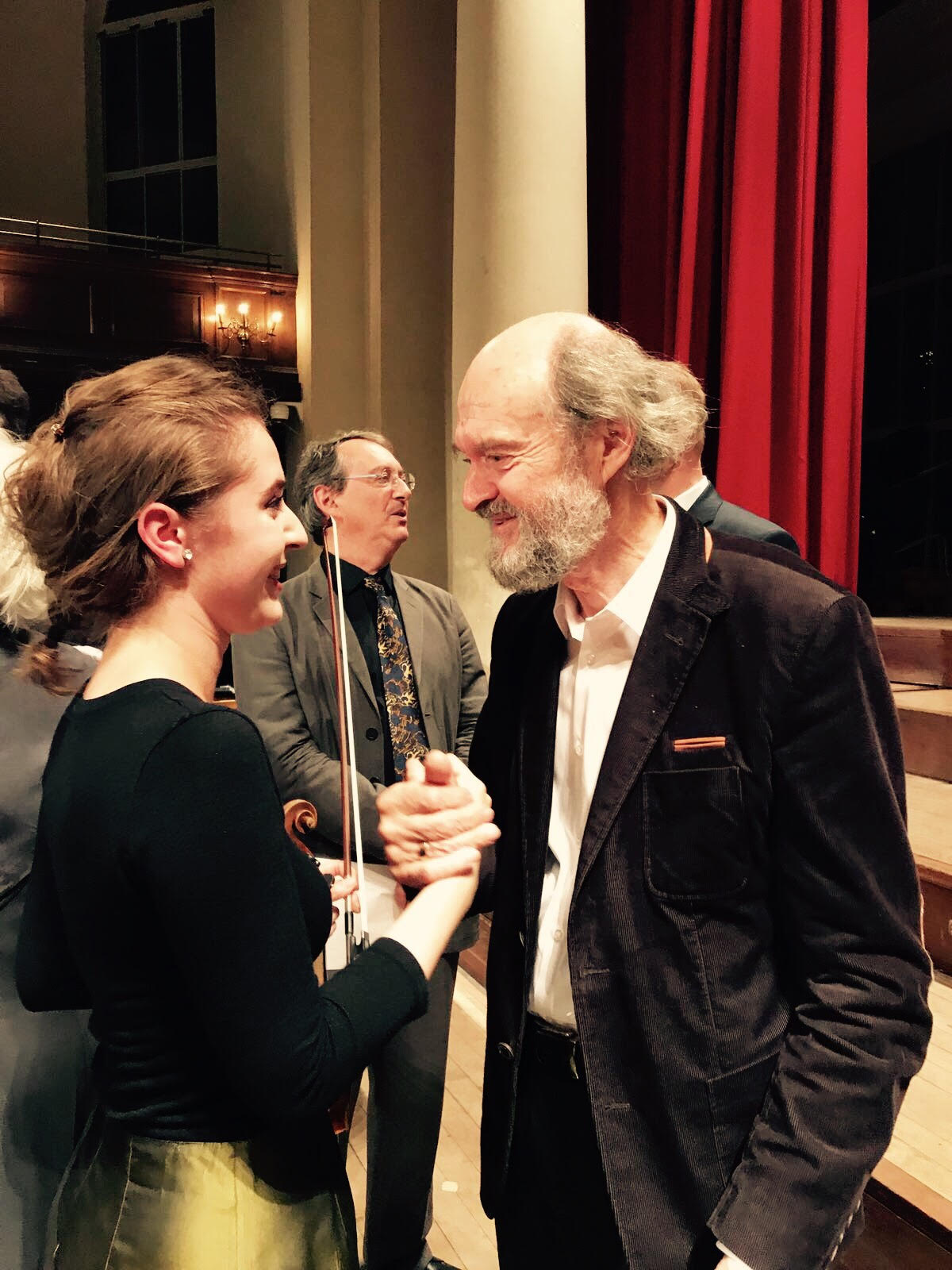 With Arvo Pärt at St John's Smith Square, London