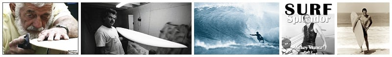 From left to right: Pat Curren, Mike Diffinender, Joey Cabell, Micky Munoz, Butch Van Artsdalen