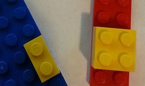 Try to work out the probability that if you are on a yellow brick, there's a red brick underneath.
