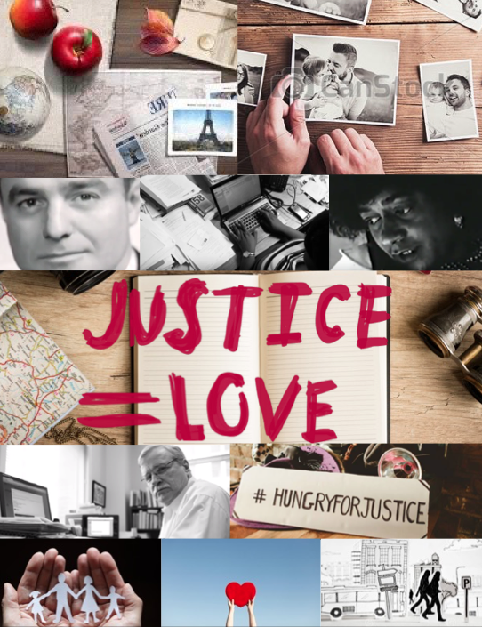 Mood Board Creative for Justice = Love