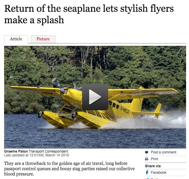 BLOG — Loch Lomond Seaplanes