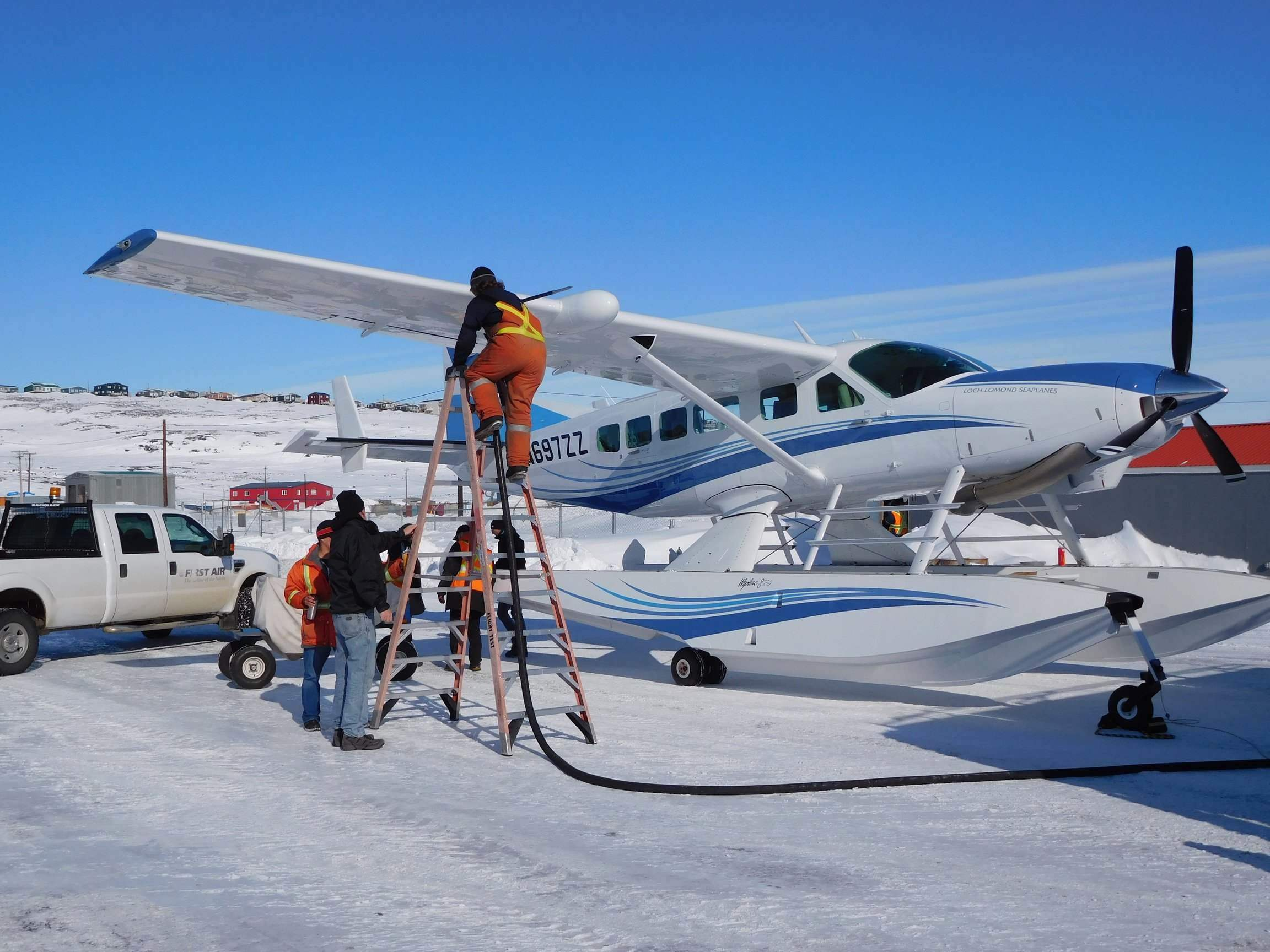 Topping up the fuel and oxygen at minus 18C