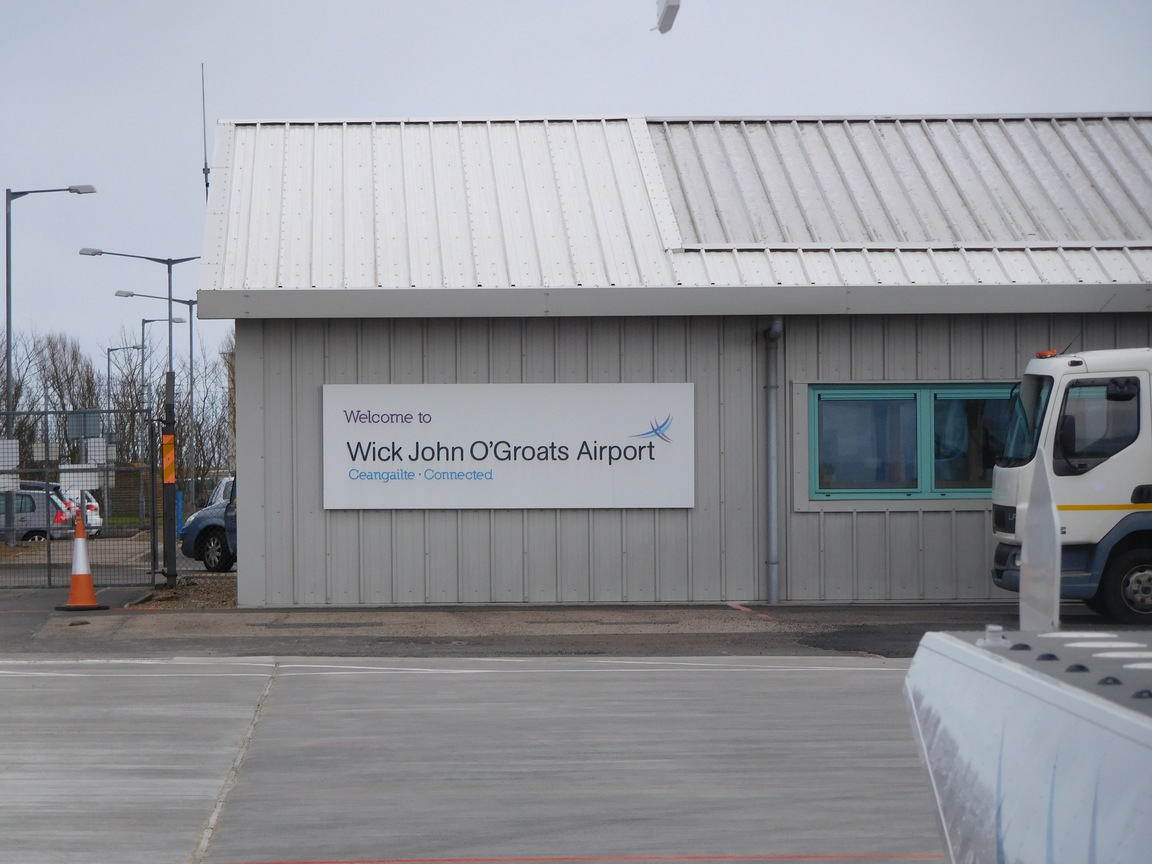 wick Airport - not the end of the World but you can see it from there !