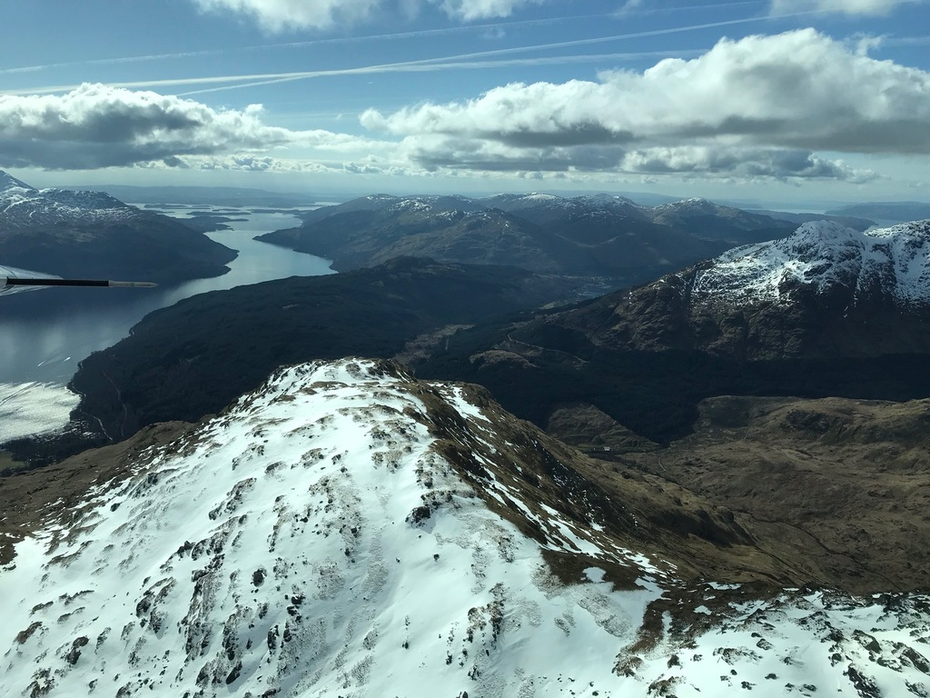 Loch Lomond looking south from Arrochar Mountains