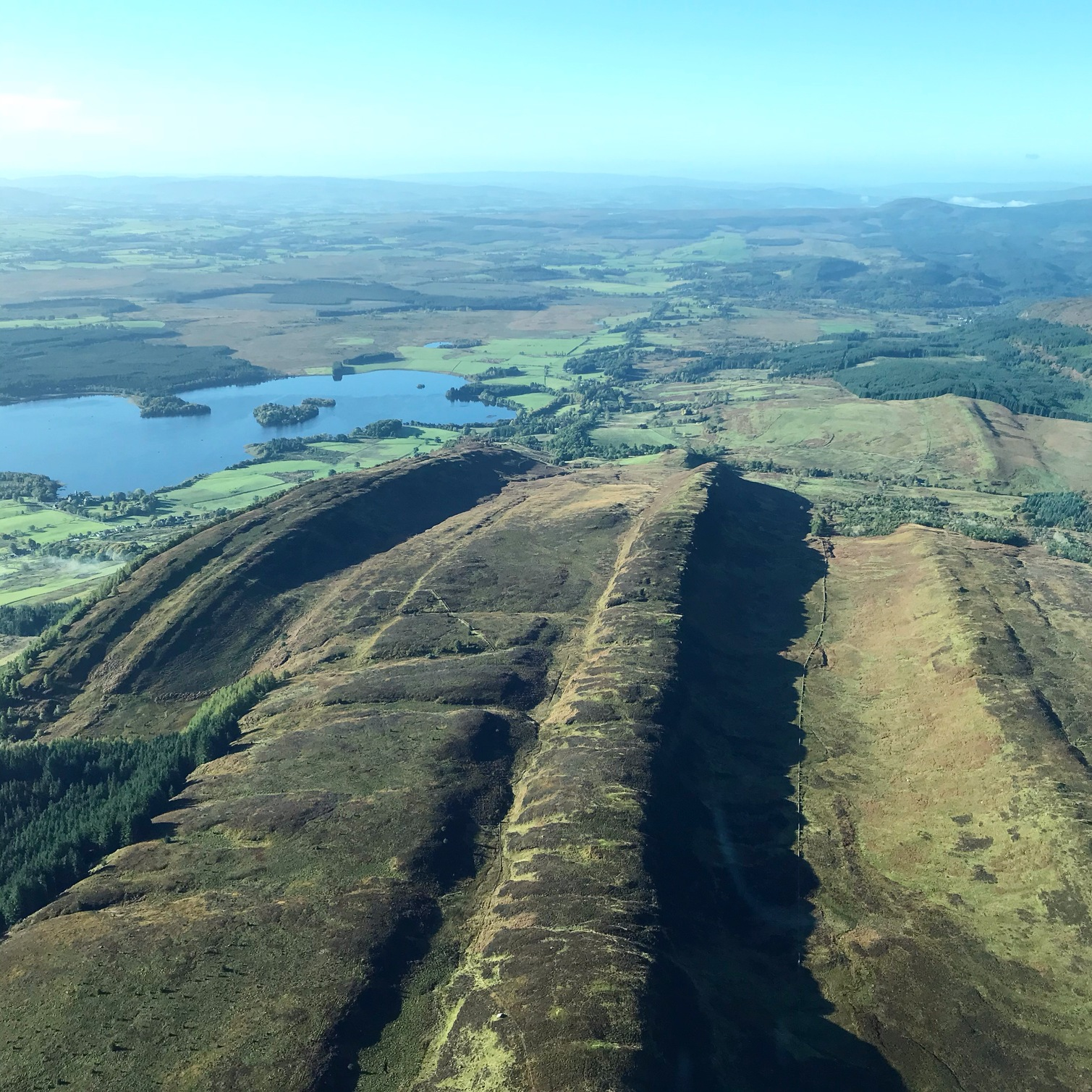 The Highland Boundary Fault Line and Lake of Menteith