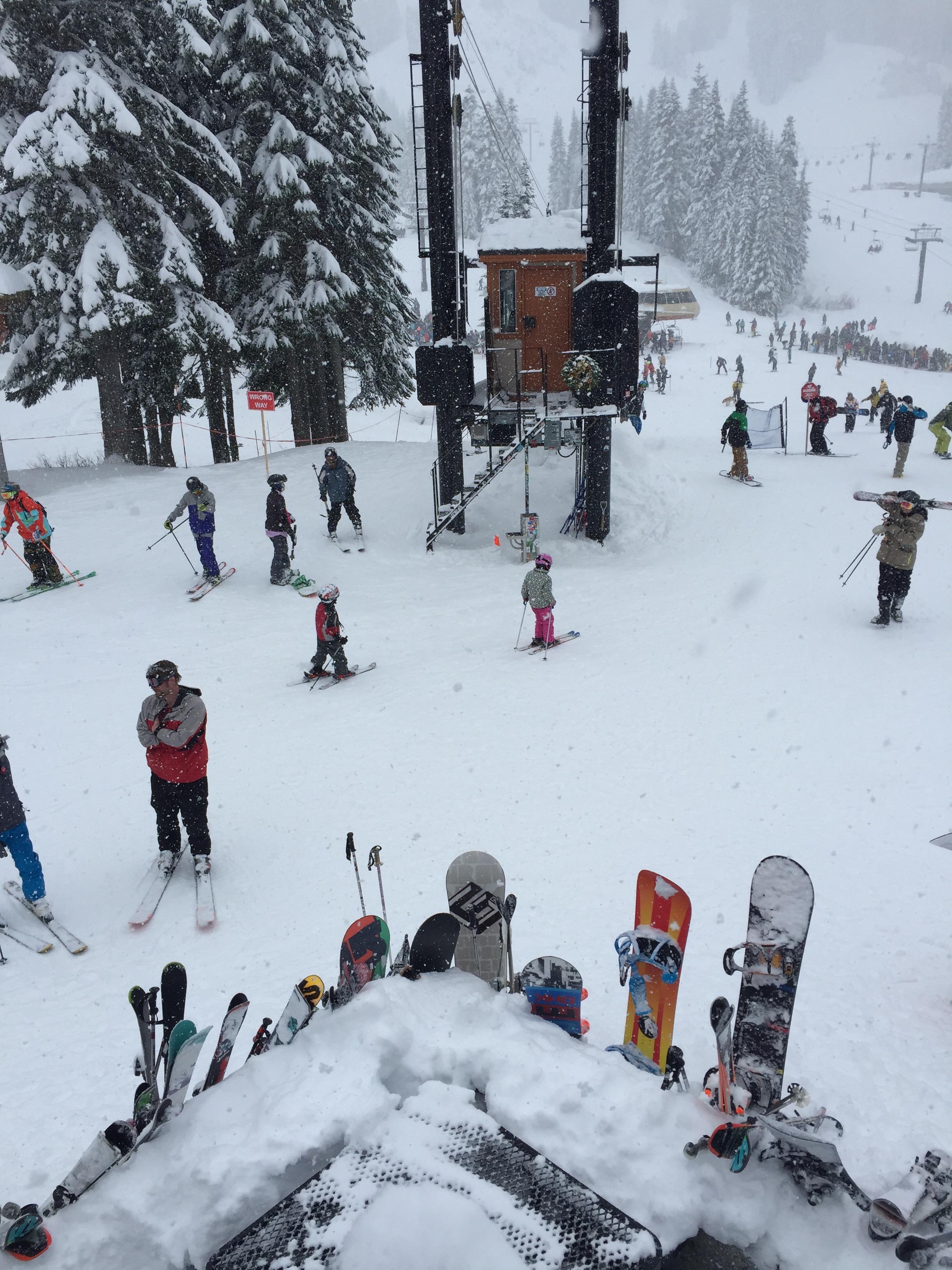 اثناء التزلج في جبل ستيفن باس في سياتل