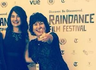 Boland and Harvey at the Raindance Film Festival in London, England.