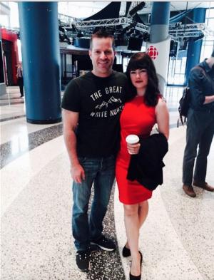 Katie Boland and Calum DeHartog at the CBC