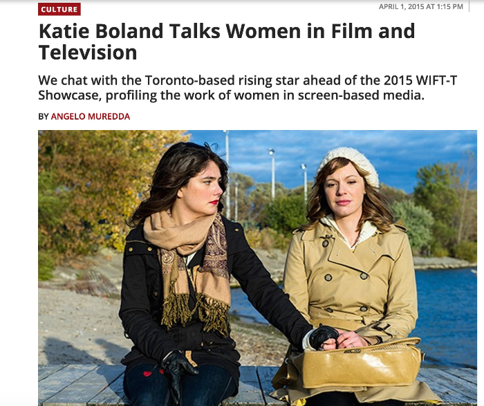 Katie Boland talks women in film and television in The Torontoist