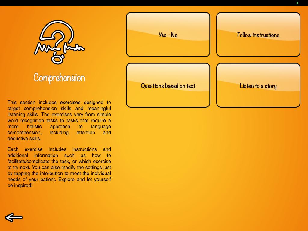 Comprehension menu