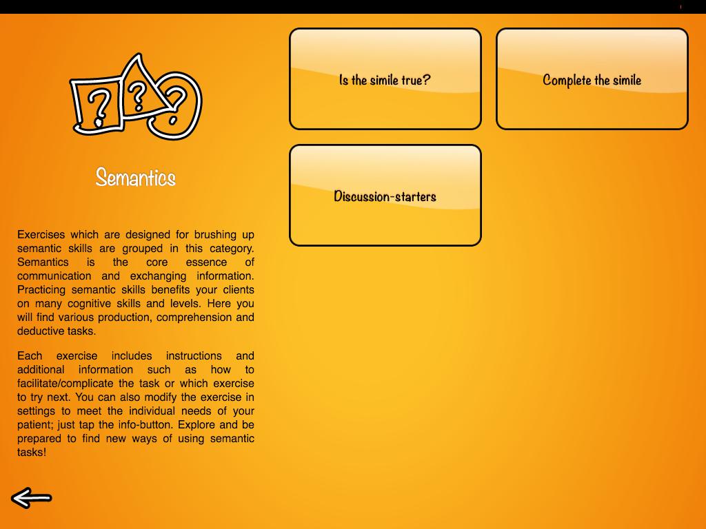 Semantics category in Sanapsis