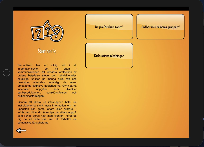 Semantics menu