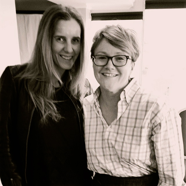 JUSTINE WITH INSPIRING ENTREPRENEUR  LISA MESSENGER LAST YEAR AS PART OF THERIPPLER EFFECT INNOVATION PROGRAM RUN BY THE  BUSINESS CENTRE