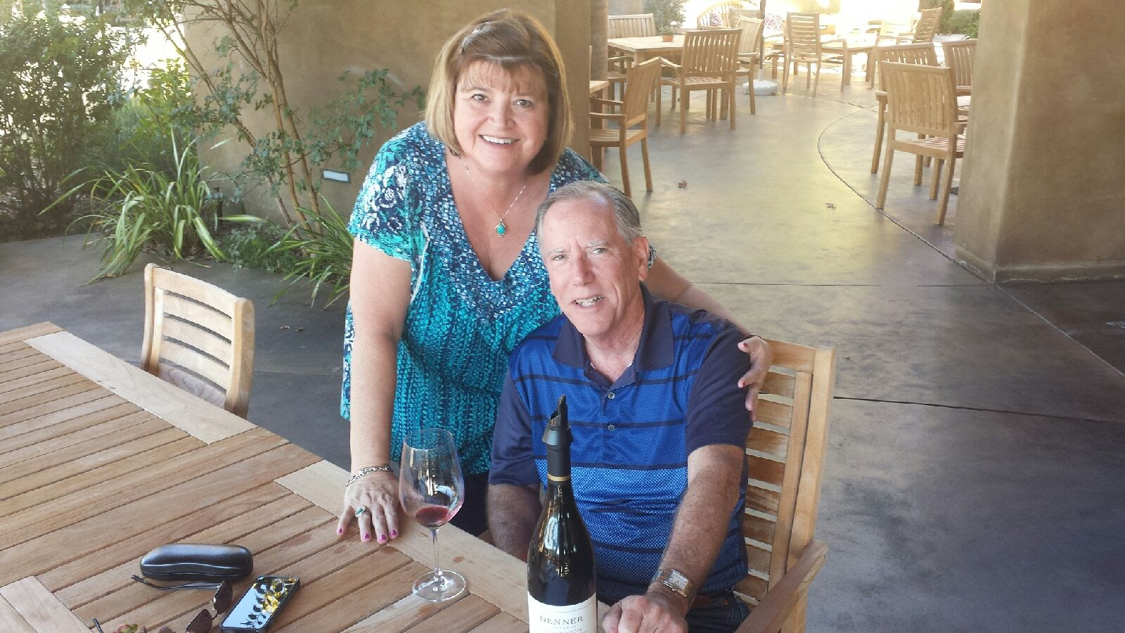 Mary and Jim at one of their tasting stops!