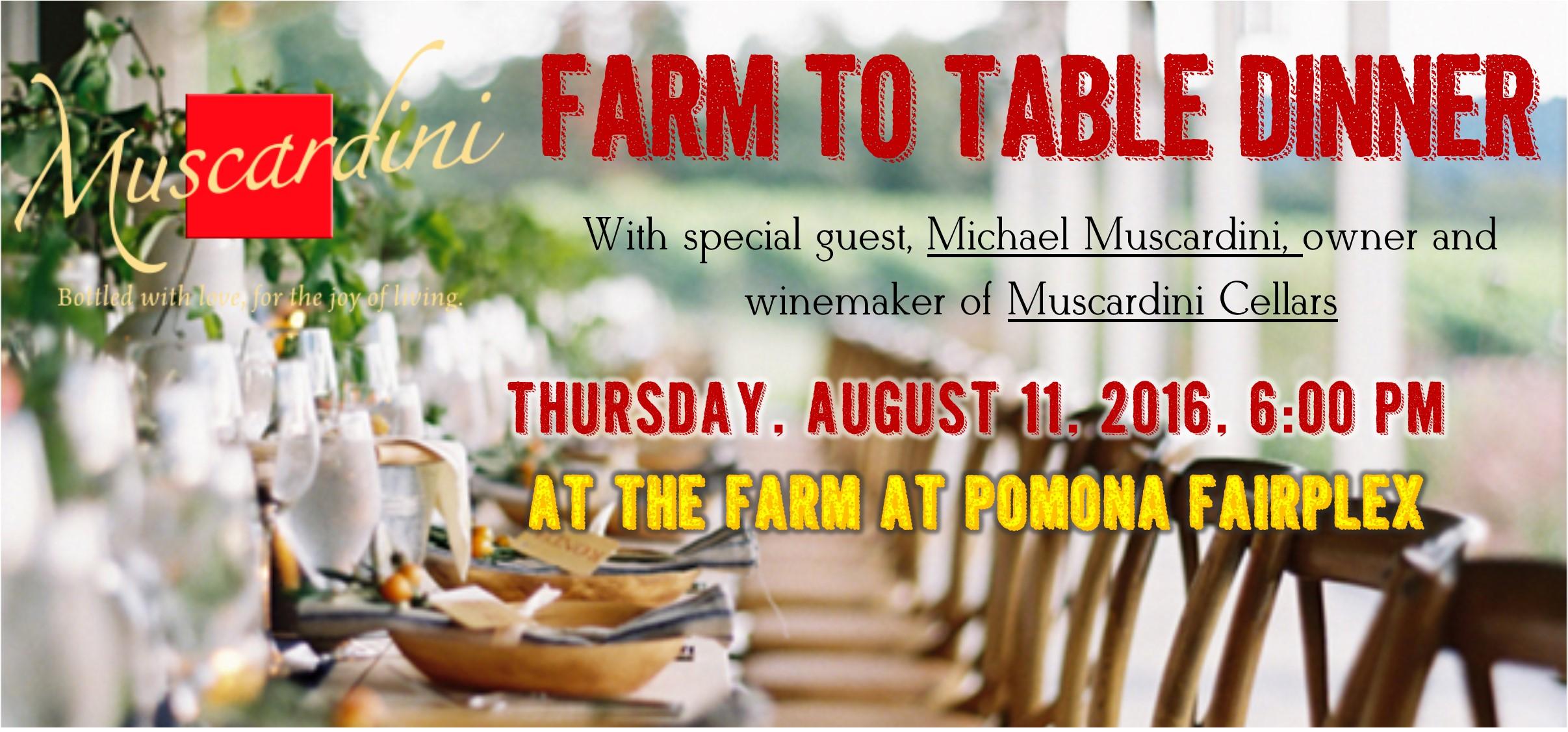 Farm to Table Winemaker Dinner