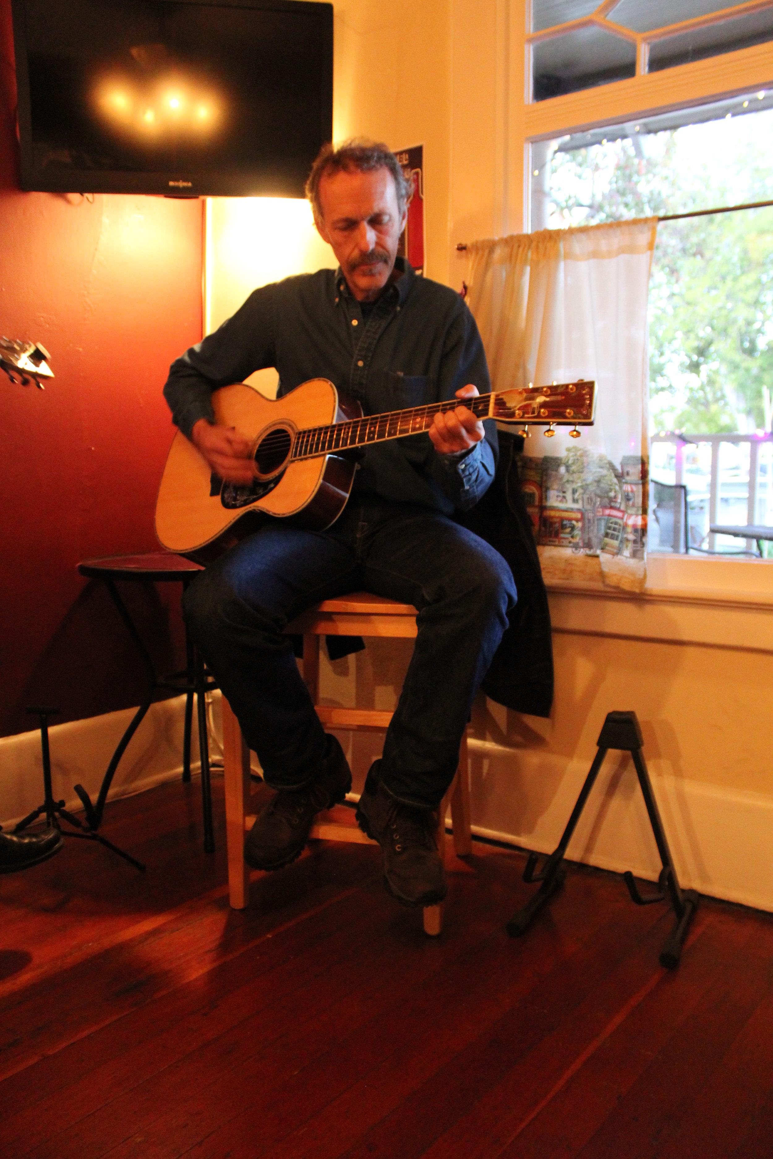 Fred Scherrer, owner, winemaker, and resident guitarist of Scherrer Winery, Sonoma, CA.