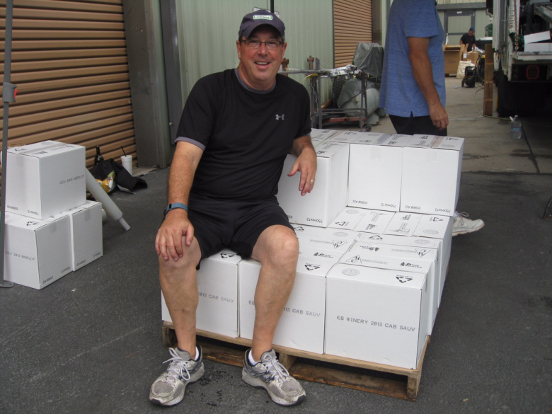 Ed Szubielski - owner and winemaker of EB Winery.