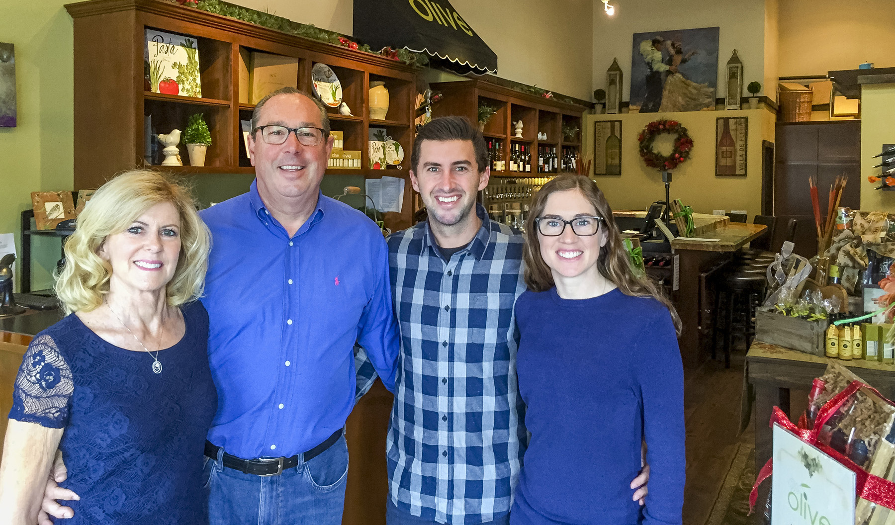 Szubielski family at their We Olive and Wine Bar, San Juan Capistrano