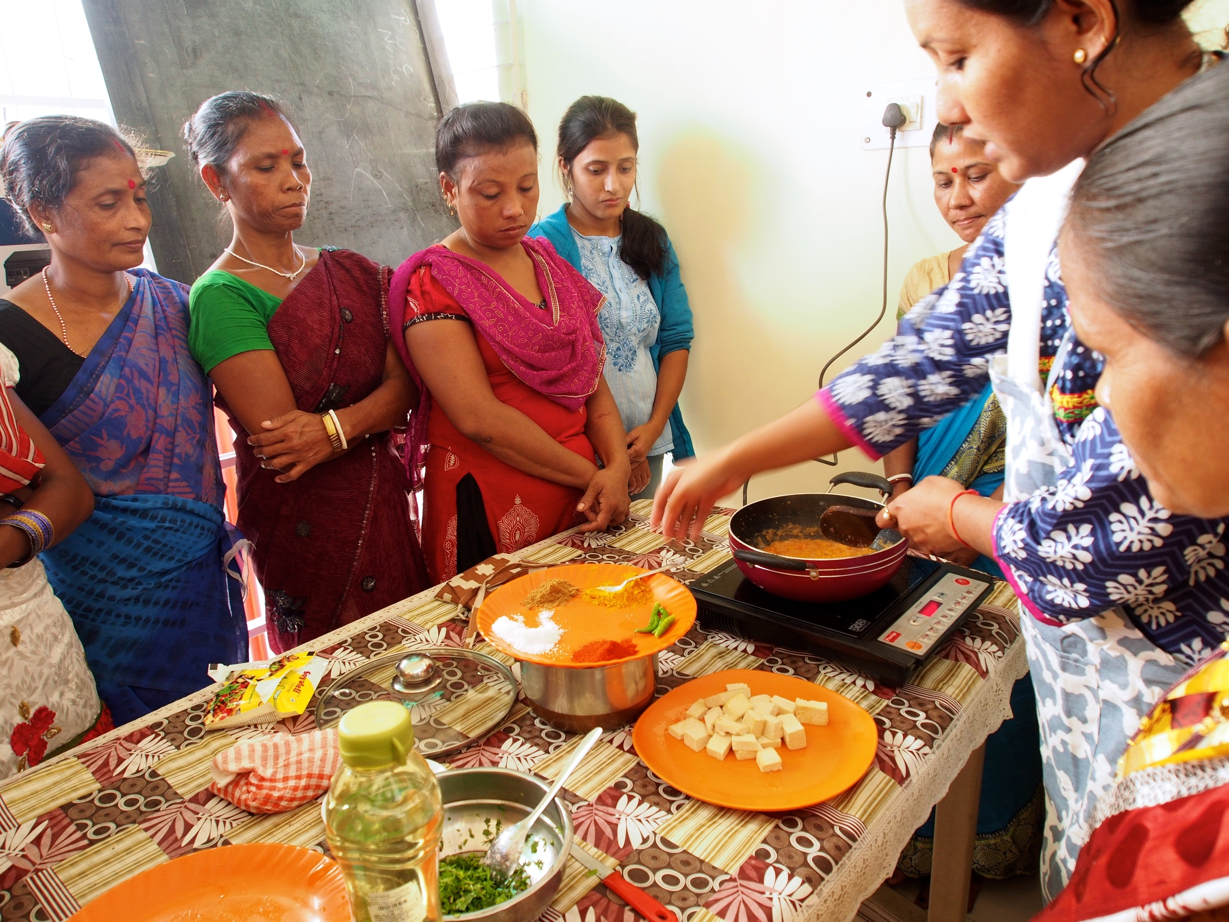 Practical Training Session on cooking a popular paneer dish