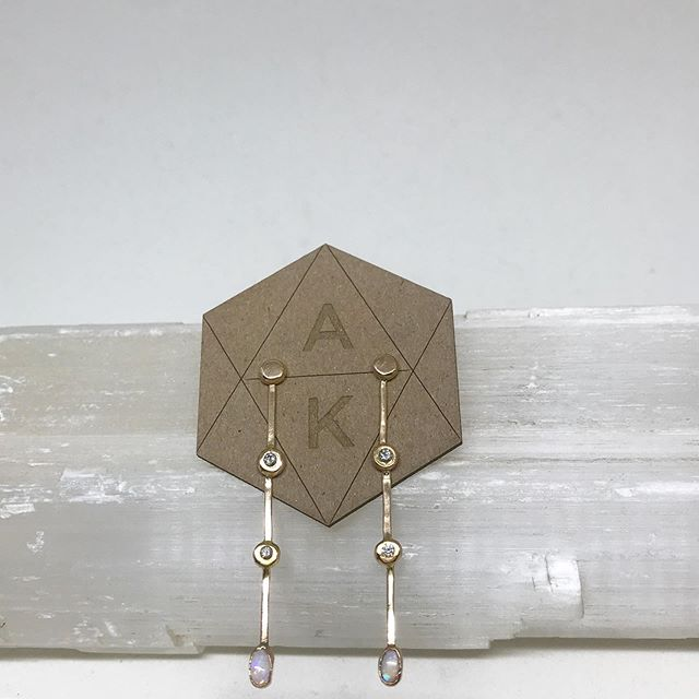 These earrings 💕 the client wanted to design two pieces for his daughter inspired by the Scottish architect Charles Rennie Mackintosh. We also wanted to incorporate her love for handmade jewelry as well as vintage. All of the elements came together so uniquely and gracefully. // swipe to see which work inspired these ladies.