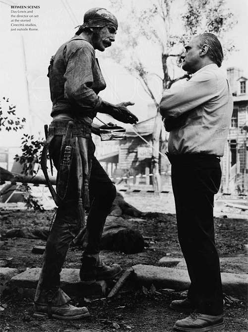 Daniel Day-Lewis and Martin Scorsese on set of  Gangs Of New York