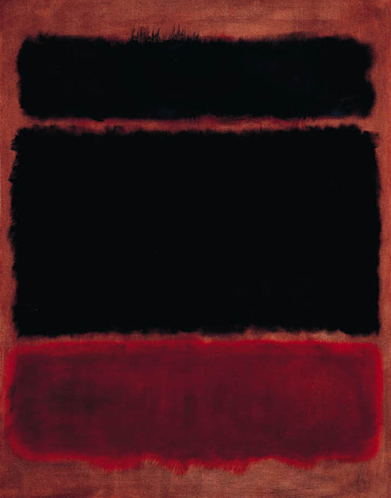 Black In Deep Red, by Mark Rothko, 1957