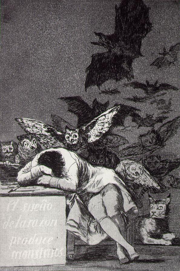 The Sleep of Reason Begets Monsters, Francisco Goya 1798
