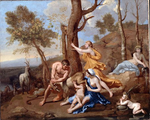 Nicolas Poussin, The Nurture of Jupiter, 1635