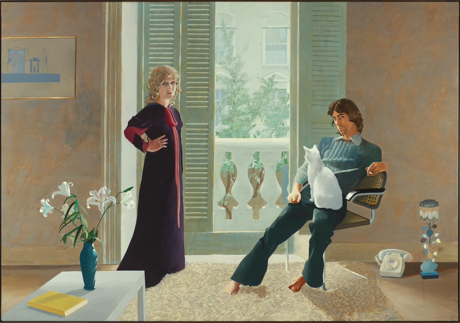 Mr and Mrs Clark and Percy, David Hockney, 1970-71