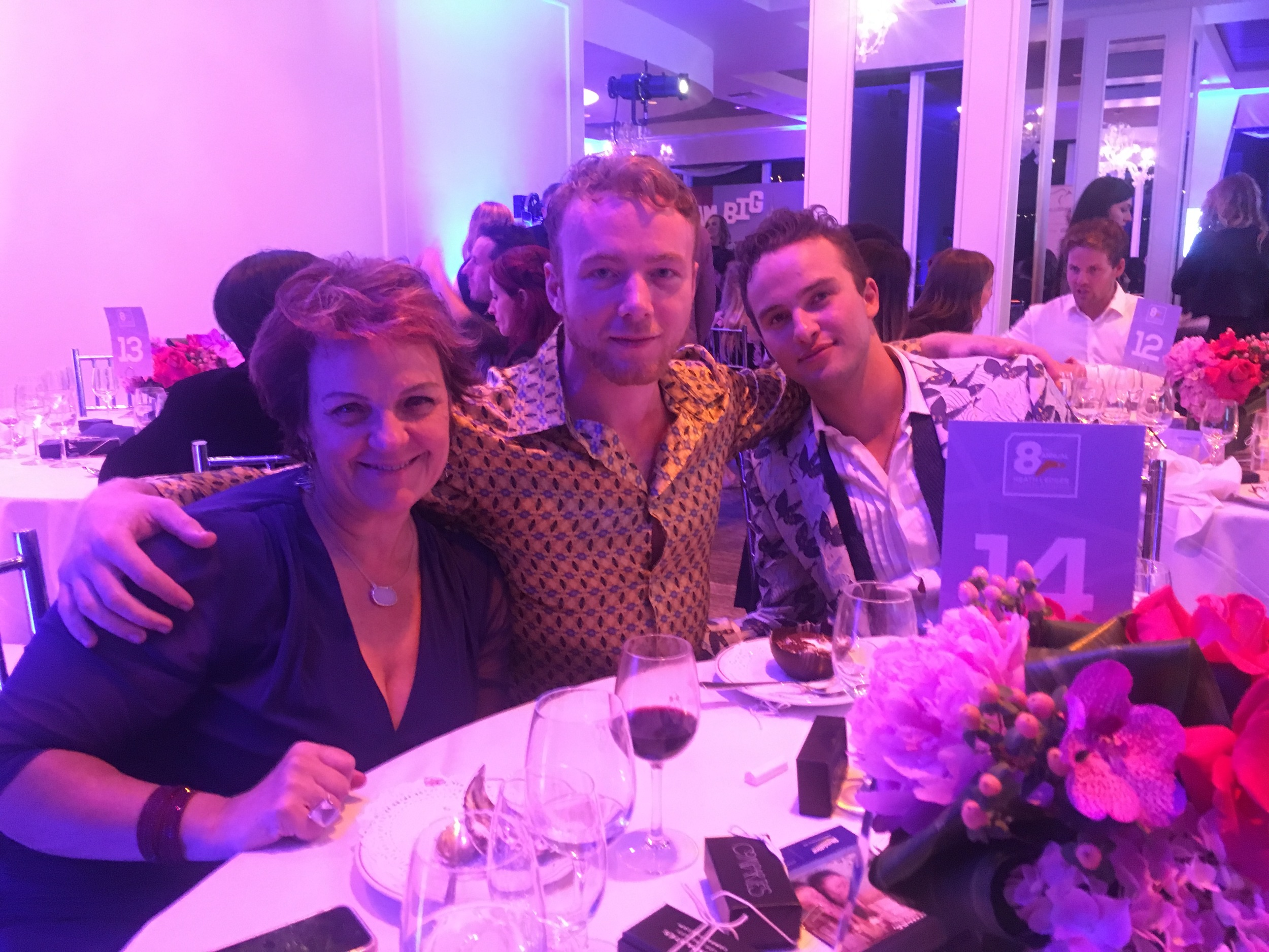 Katherine Tulicd (left), Me, Mojean Aria (Right) at the Heath Ledger Scholarship dinner 2016