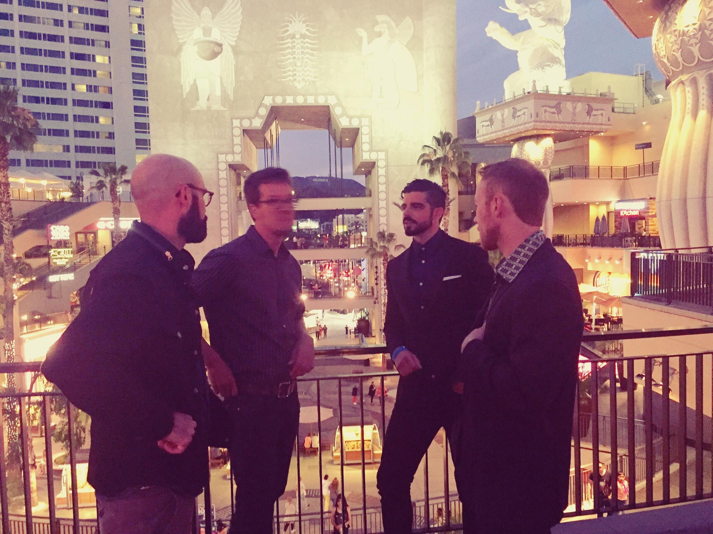 Tim Davis, Jon Cvack, Micah Parker and I at the closing night gala of DWF