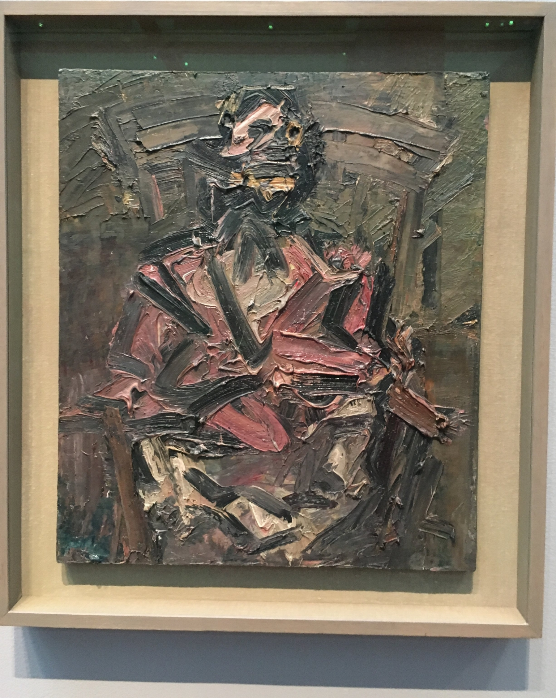 JYM Seated No. 1 by Frank Auerbach, 1981. Currently showing at  London Calling  at The Getty until November. Read my thoughts  here