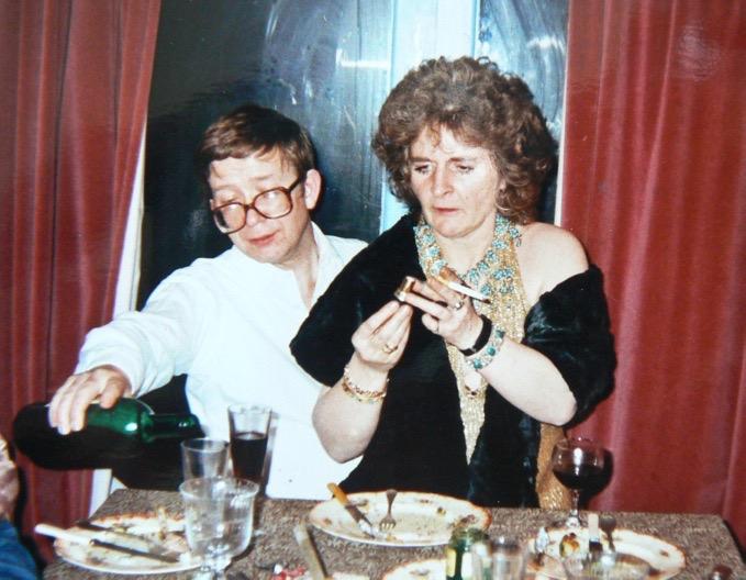Peter Fuller and Maggie Hambling c. 1990