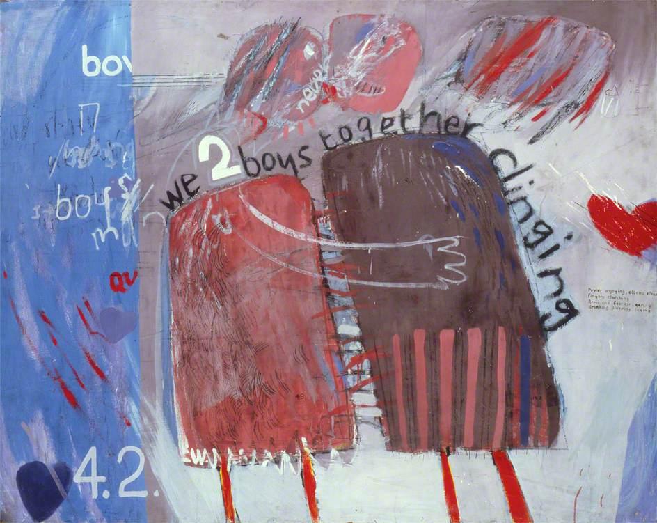 We Two Boys Clinging Together , David Hockney