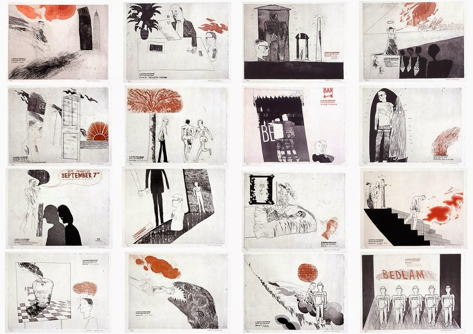 A Rake's Progress,  David Hockney