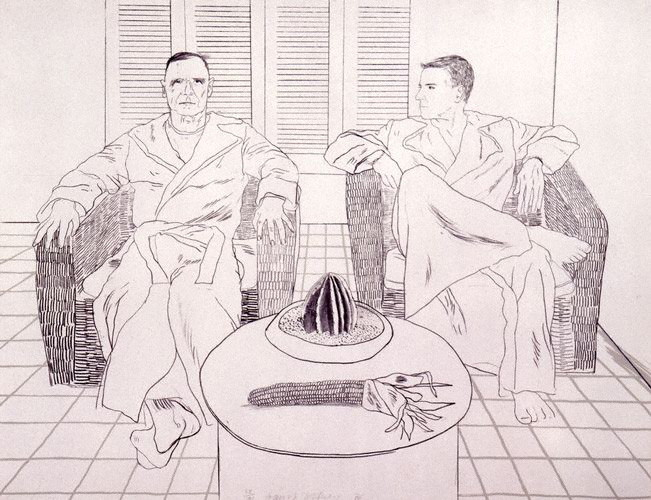 Christopher Isherwood and Don Bachardy , David Hockney, 1979
