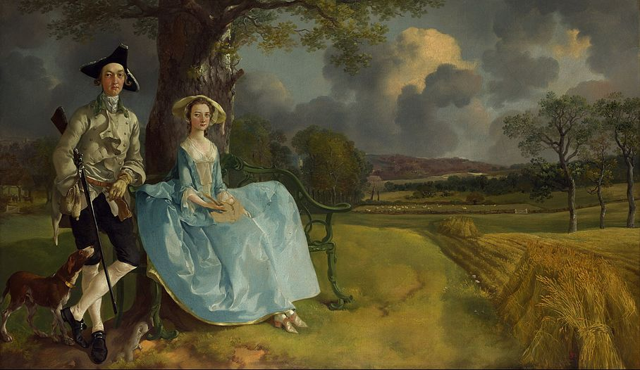 Thomas Gainsborough, Mr. and Mrs. Andrews, National Gallery, London