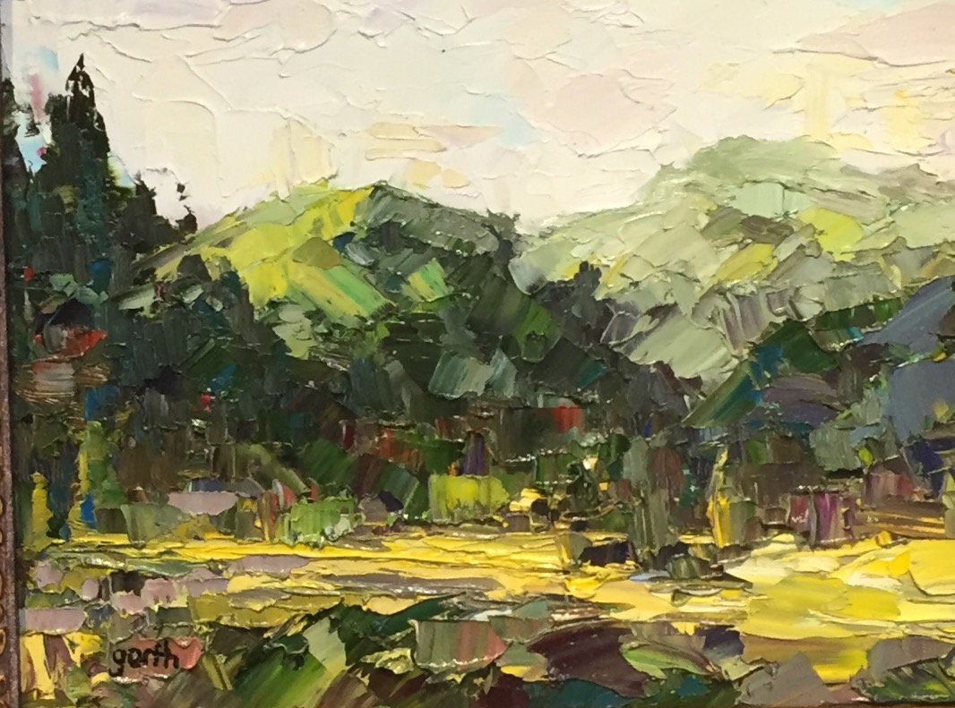 Summer Range, Oil, 9 x 12 $300