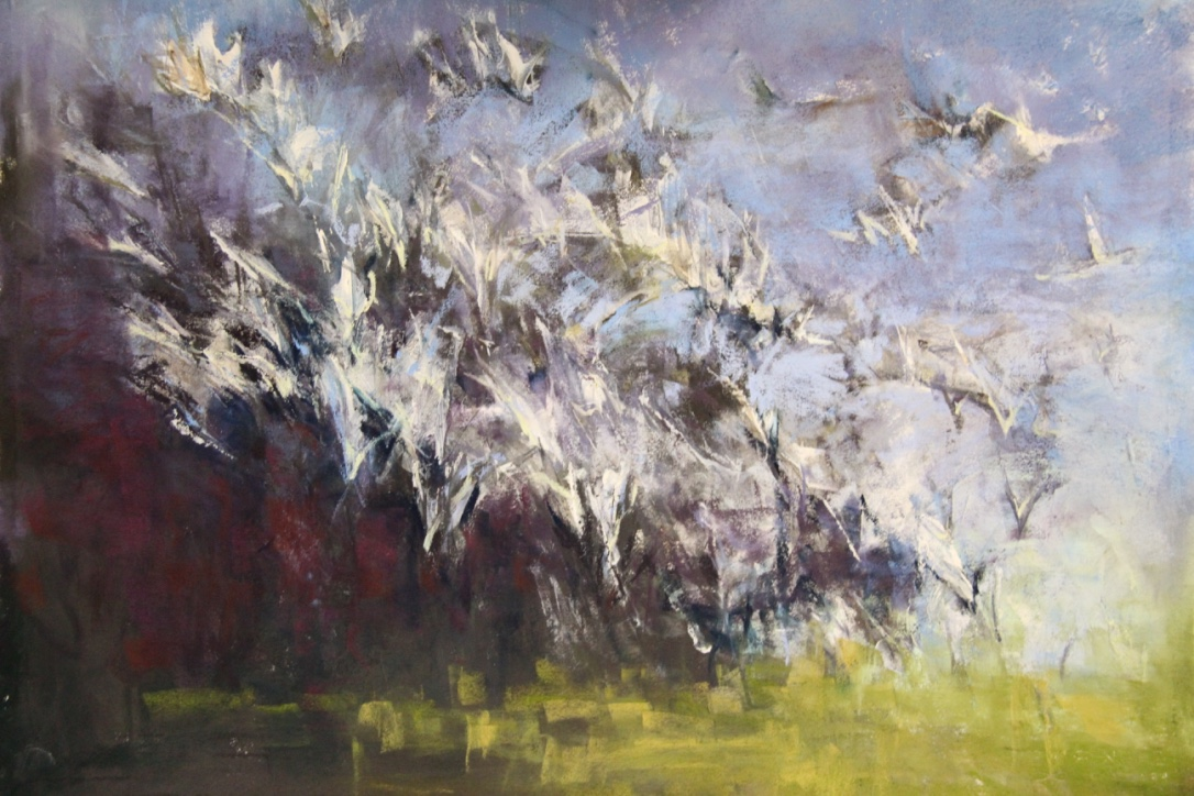 """Feathered Flight"", 20x30 Pastel $1,850"