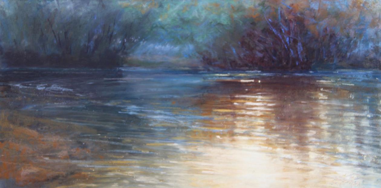 """""""Poetic Impressions"""" 12x24, Pastel $1150"""