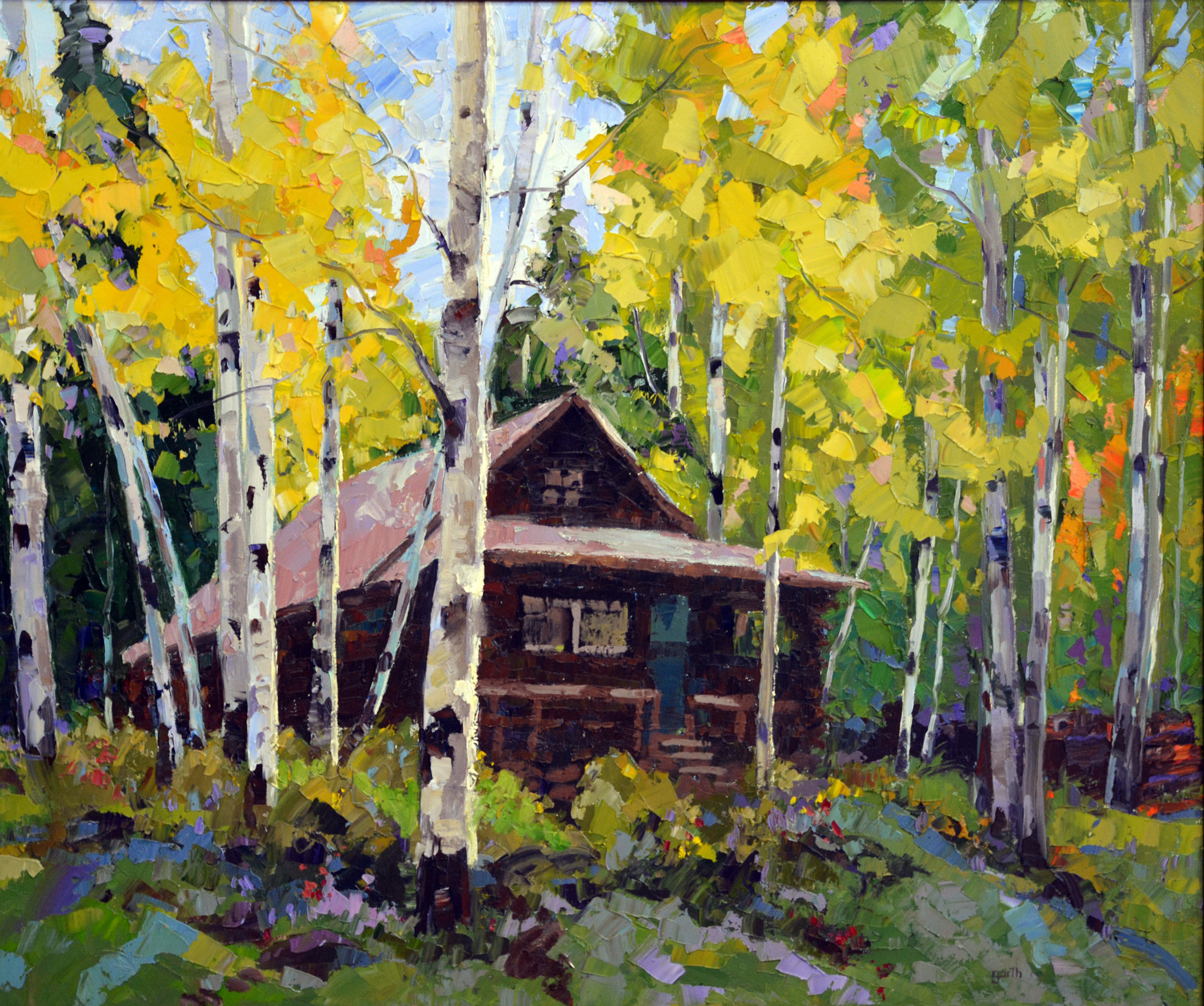 Cabin in the Woods, Oil, 30 x 40 $3,000