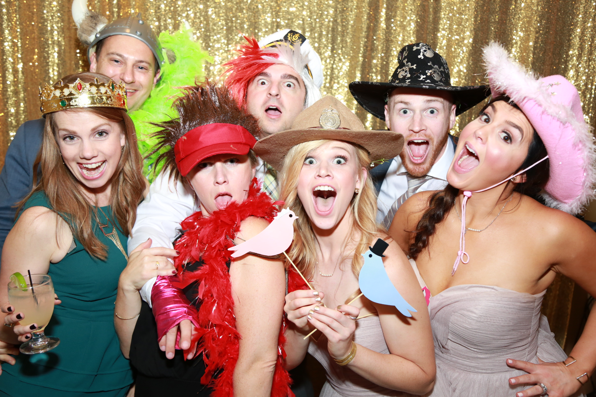 $399 Photo Booth - Text & Email yourself directly from the booth. Printing is a given. Colorful backdrops to choose from! Lots of Props! Up to 5 hours, Online Gallery for downloading, Open booth for large groups, 4x6 printing included