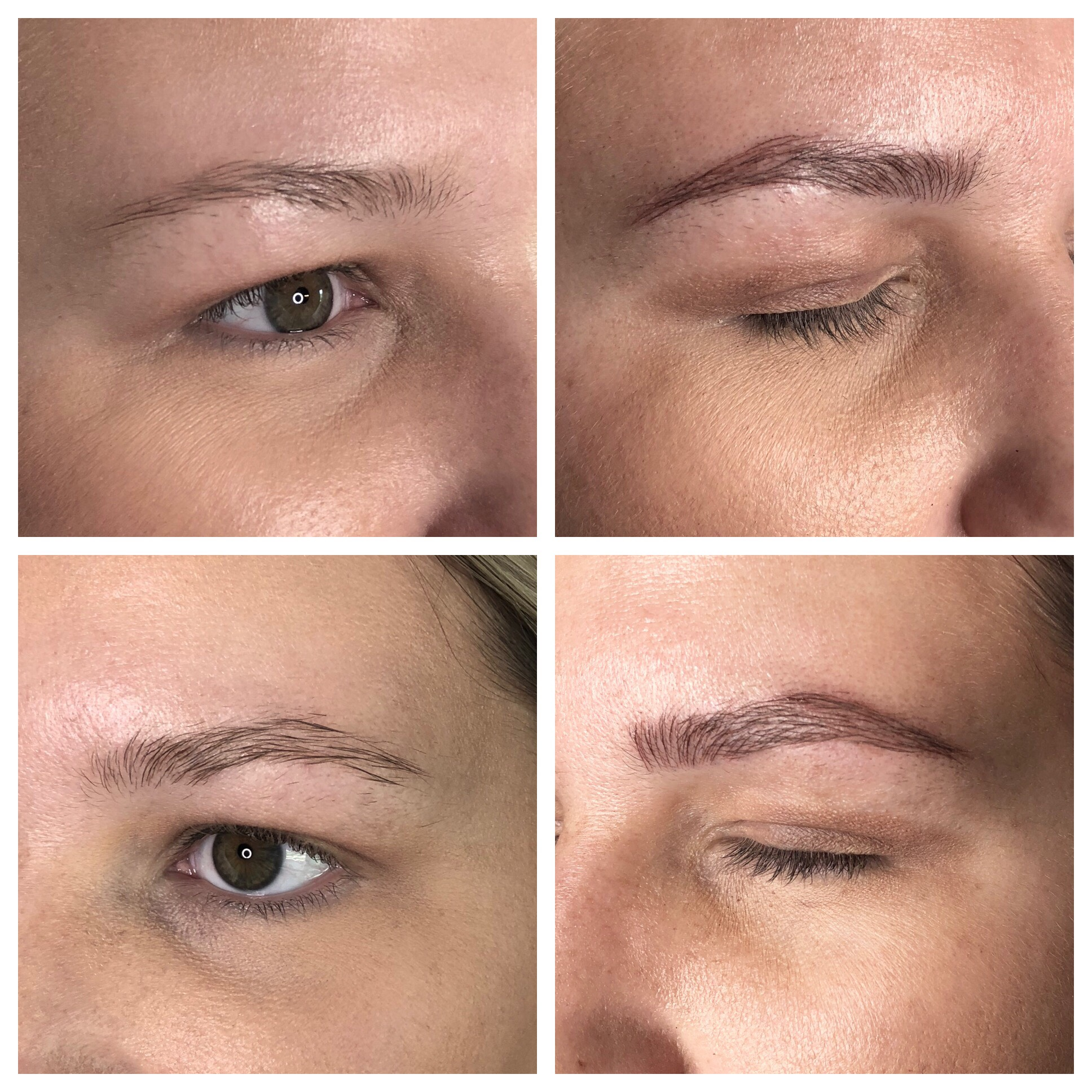 My own before and after microblading service by Trista Noe.